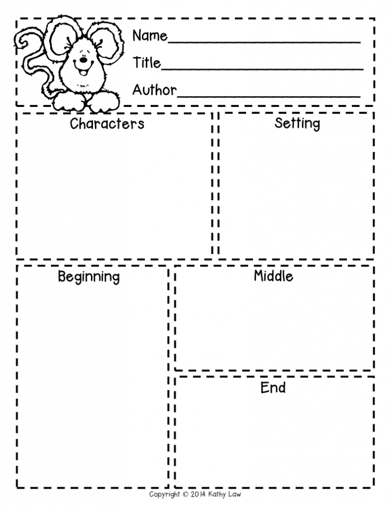 First Grade A La Carte: Story Elements Freebie | Reading In - Printable Story Map For Kindergarten