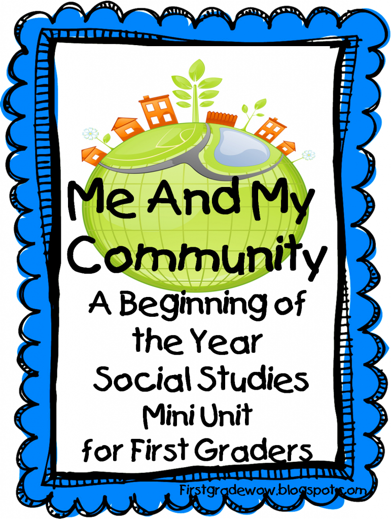 First Grade Wow: Me And My Community - Community Map For Kids Printable