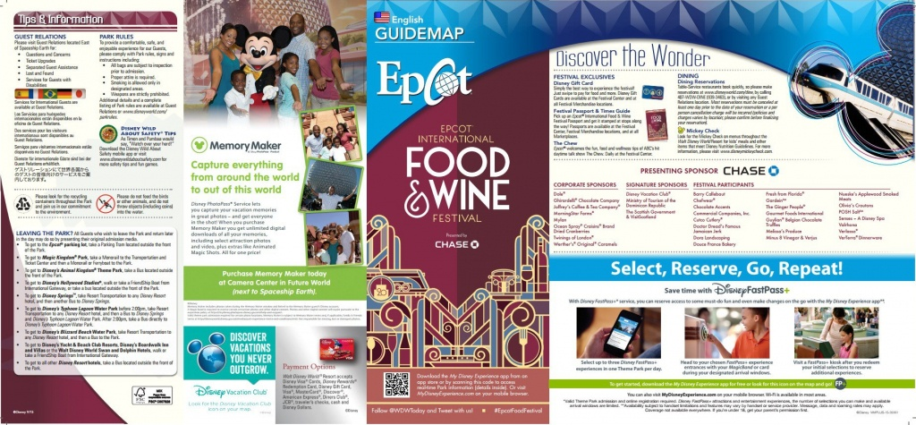 First Look - 2015 Epcot Food And Wine Festival Park Maps - Printable Map Of Epcot 2015