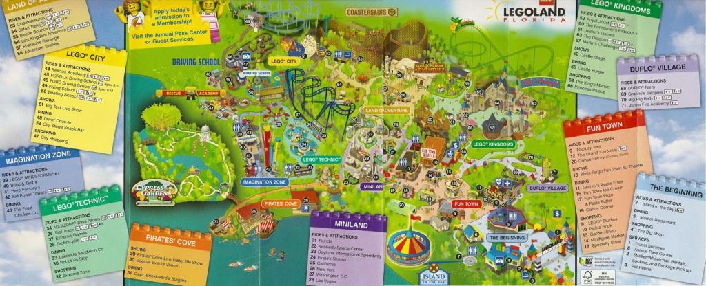 First Look At Legoland Florida's Park Map   Hospitality And Travel News - Legoland Florida Park Map