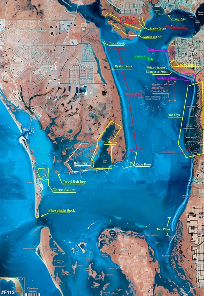 Fishin Franks Where To Go Fishing Map. - Charlotte Harbor Florida Map