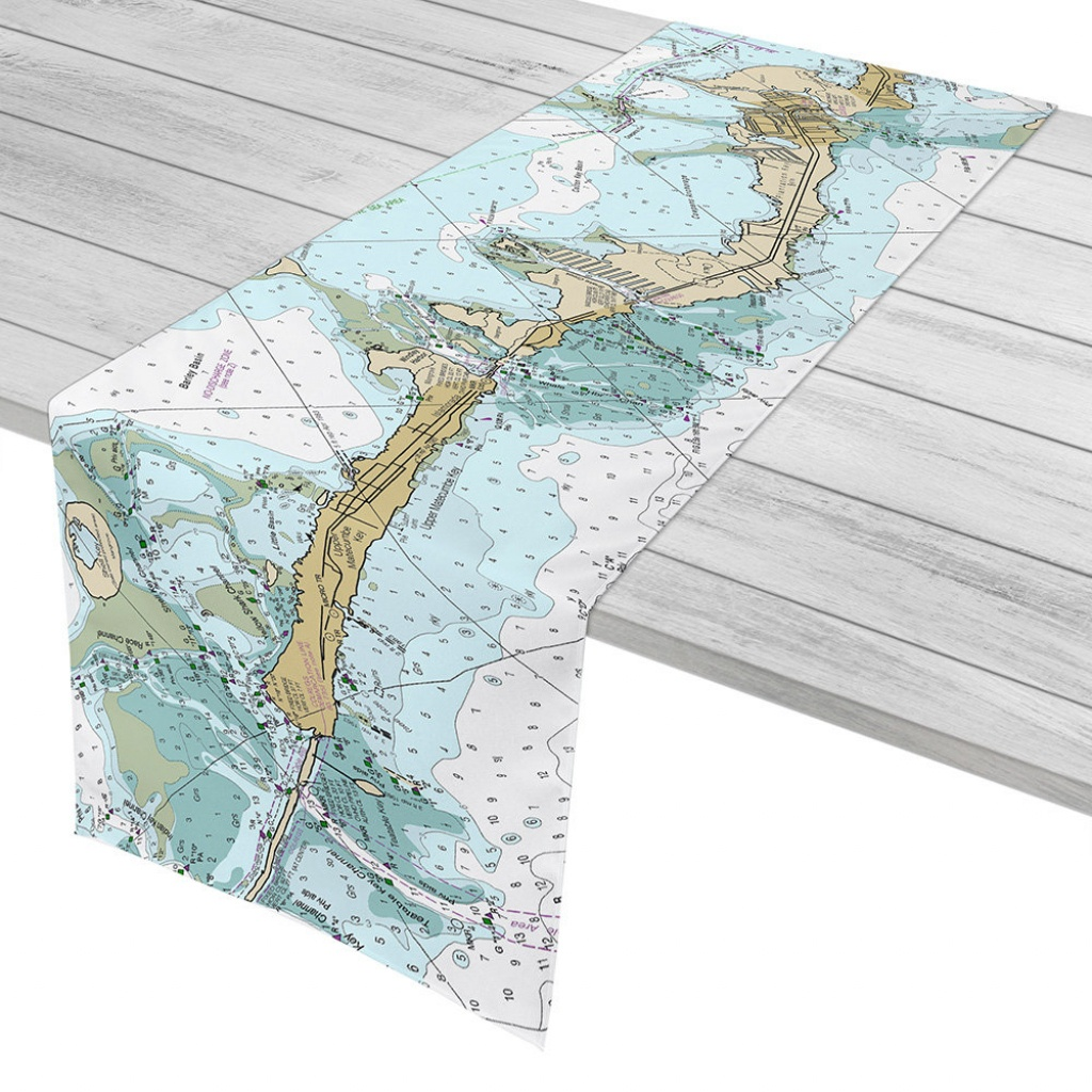 Fl: Islamorada Fl Nautical Chart Table Runner Florida Keys | Etsy - Florida Keys Nautical Map