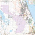 Flagler Co., Fl Wall Map   Street Map Of Ormond Beach Florida