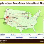 Flight Info: Non Stop Destinations | Reno Tahoe International Airport   California Destinations Map