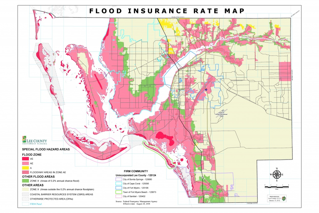 Flood Insurance Rate Maps - Lee County Flood Zone Maps Florida