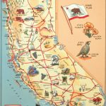 Florentine Print Map Of California   California Map Print