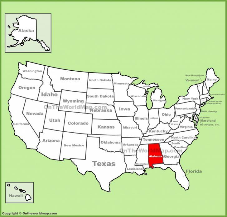 Map Of Alabama And Florida