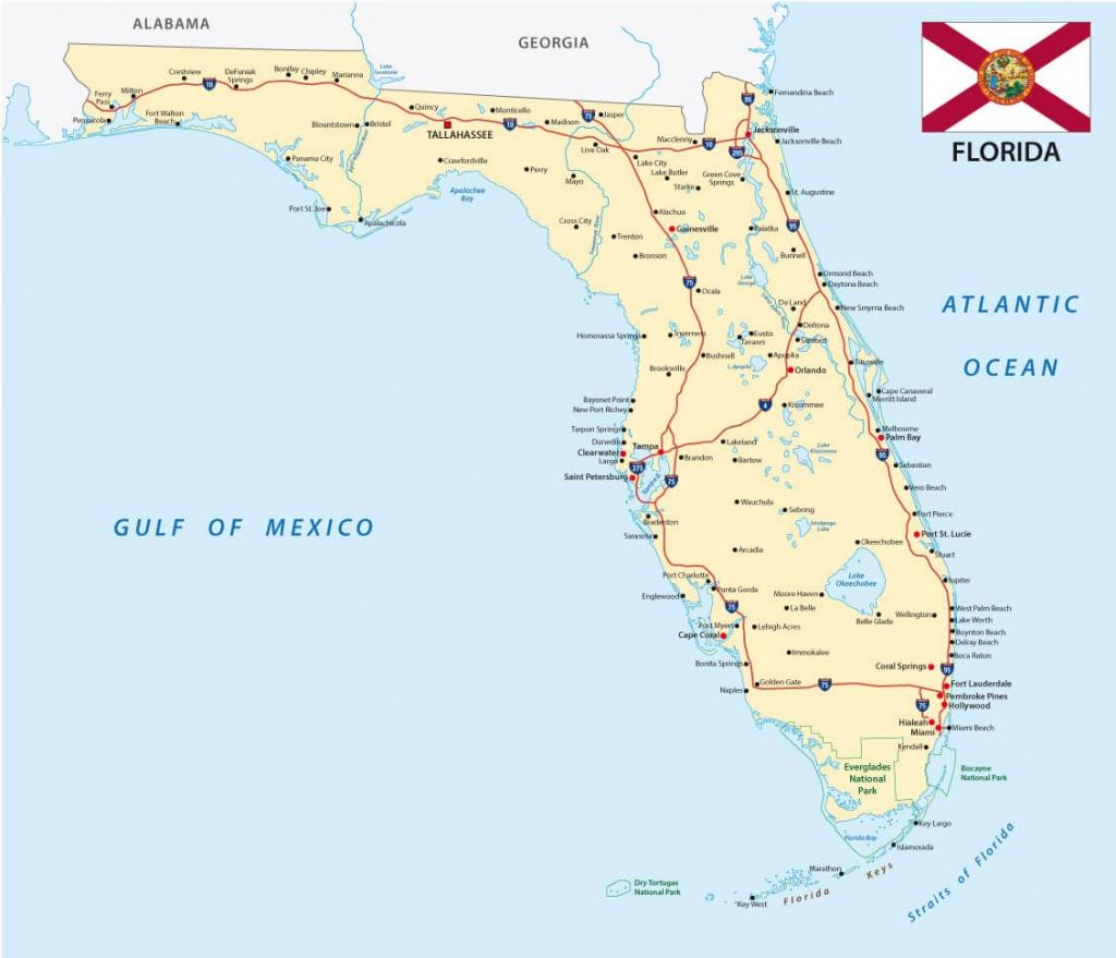 Florida Cities Map - Estero Beach Florida Map