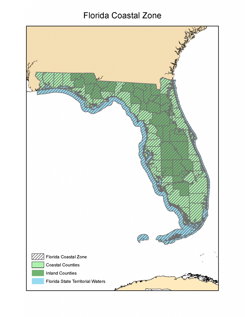 Florida Coastal Zone Map | Florida Department Of Environmental - Florida Zone Map