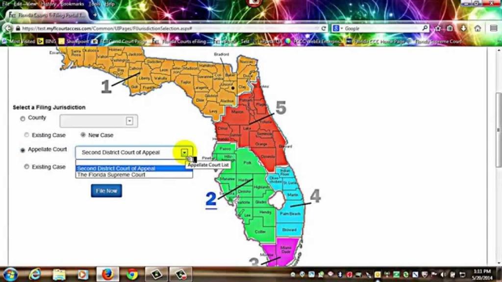 Florida Courts E-Filing Portal - E-Filing Map - Youtube - Los Cayos Florida Map