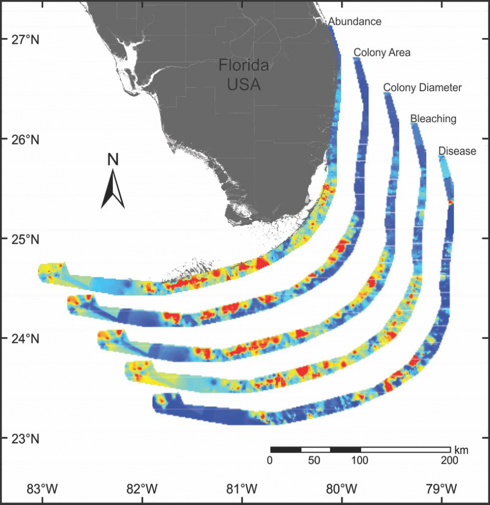 Florida – Disturbance Response | Reef Resilience - Coral Reefs In Florida Map