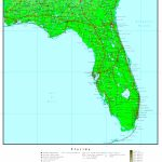 Florida Elevation Map   Florida Elevation Map By County