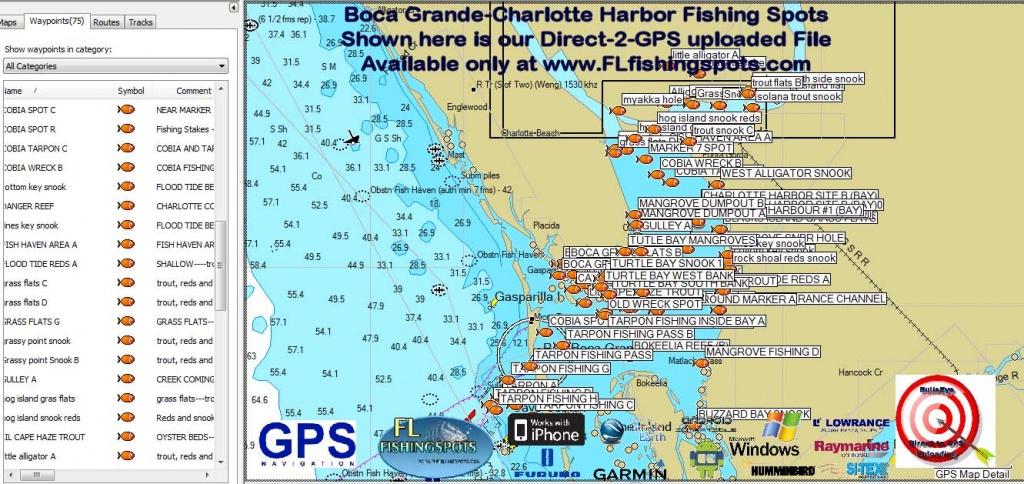 Florida Fishing Maps With Gps Coordinates | Florida Fishing Maps For Gps - Top Spot Fishing Maps Florida