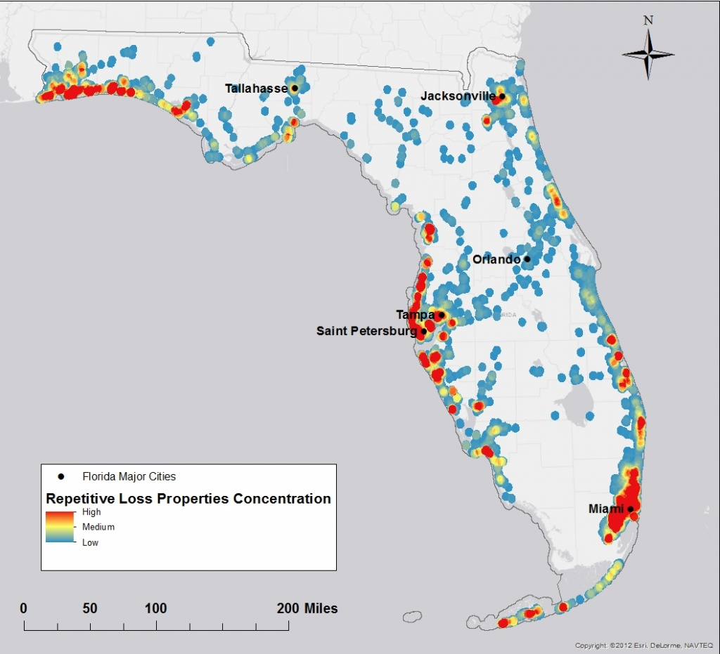 Florida Flood Risk Study Identifies Priorities For Property Buyouts - Florida Future Flooding Map