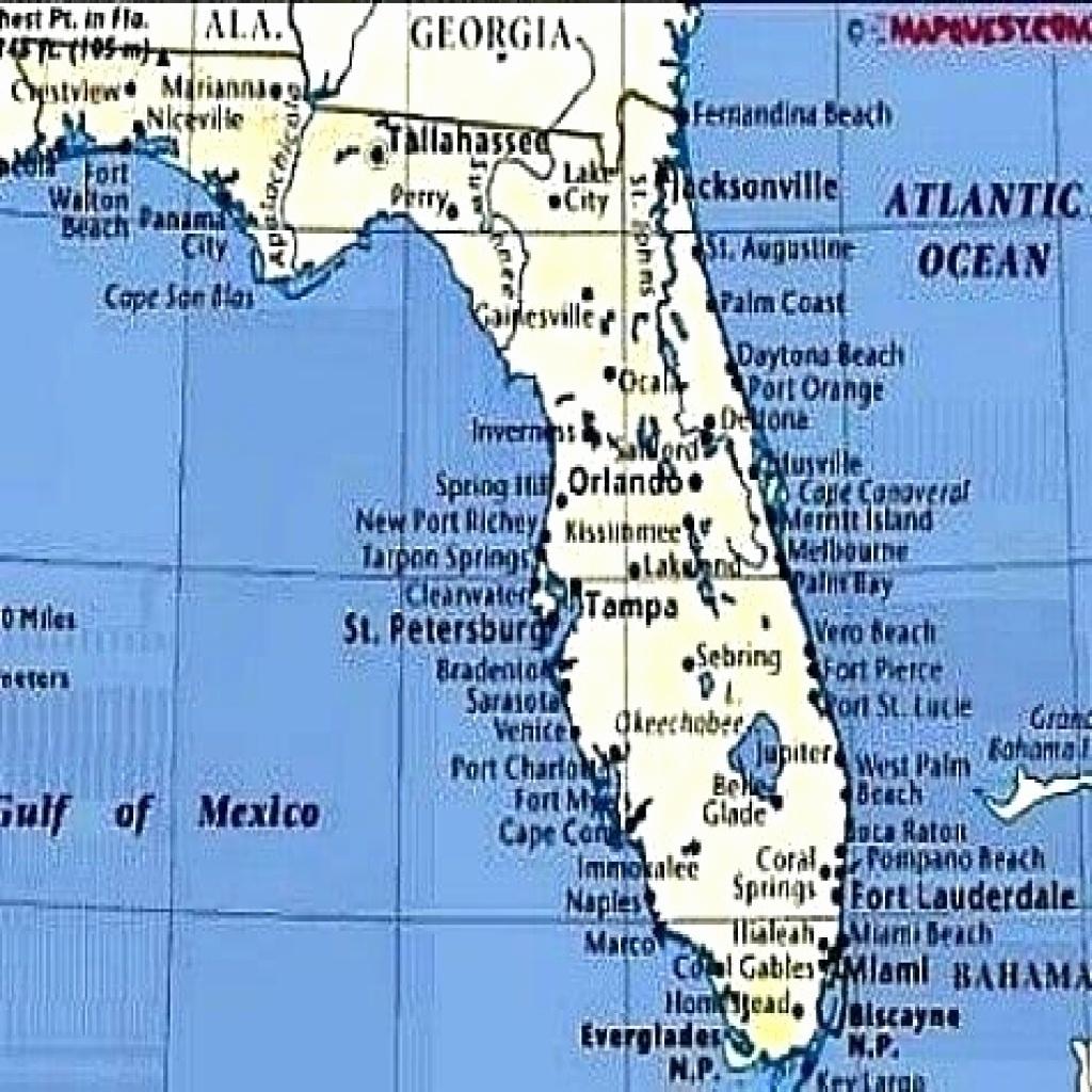 Florida Gulf Coast Beaches Map - About Beach Foto - Florida Gulf Map