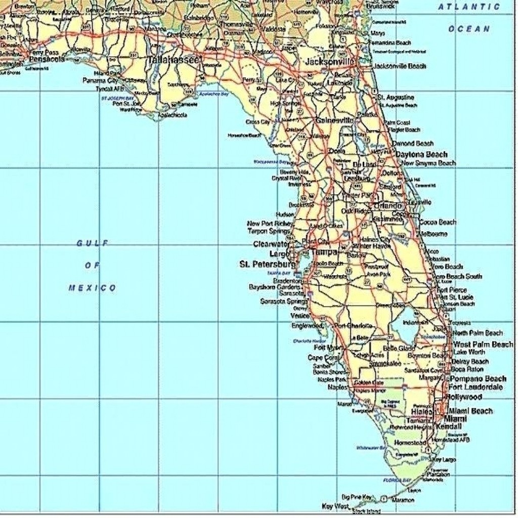 Florida Gulf Coast Beaches Map Map Of Florida West Coast Cities Map - Florida Coast Map
