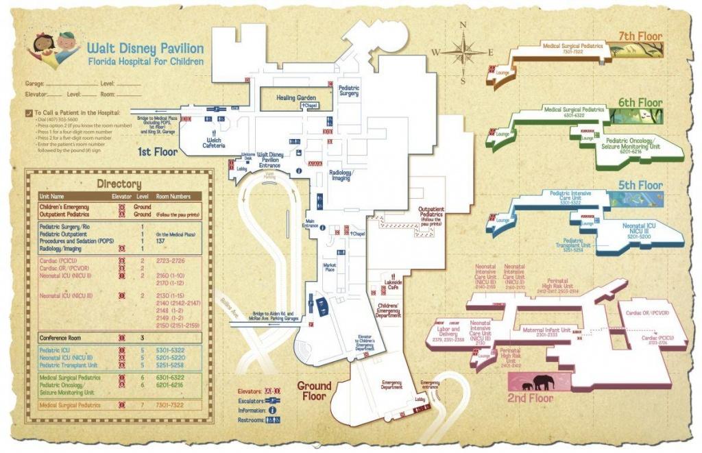 Florida Hospital Orlando Map - Florida Hospital Map (Florida - Usa) - Florida Hospital South Map