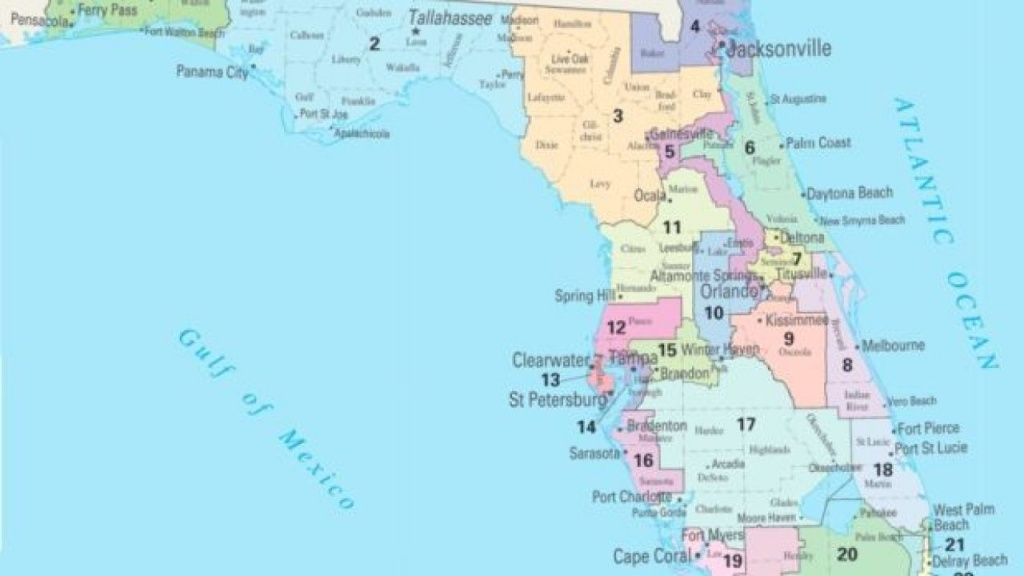 Florida House Moves Ahead With Its Own Map - Florida Ocean Map