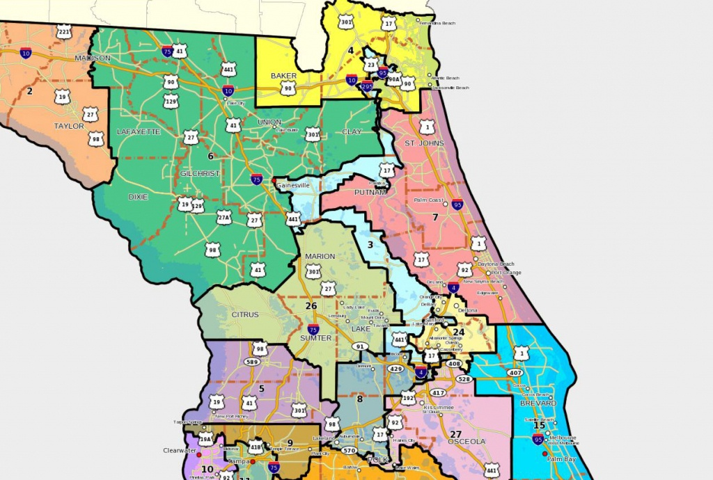 Florida House Releases Redistricting Lines Tuesday, Mapping Out - Florida State Representatives Map
