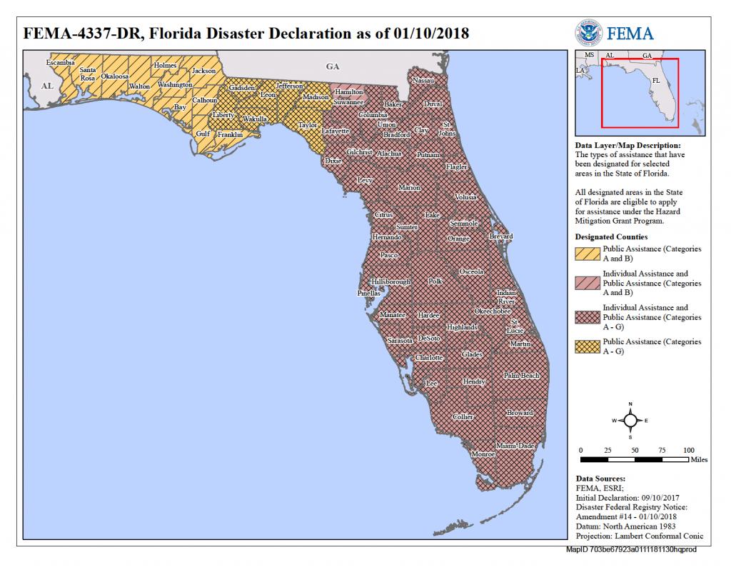 Florida Hurricane Irma (Dr-4337)   Fema.gov - Nassau County Florida Flood Zone Map