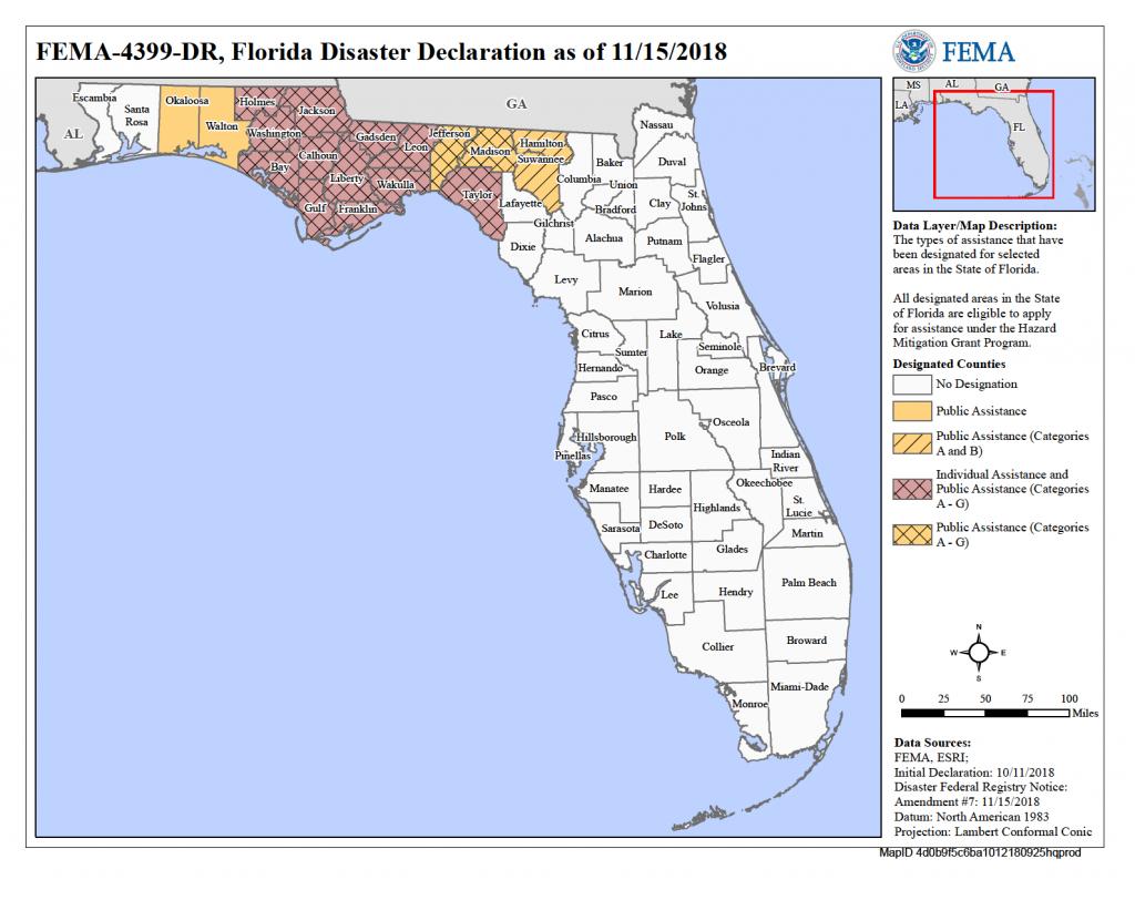 Florida Hurricane Michael (Dr-4399) | Fema.gov - Where Is Panama City Florida On The Map