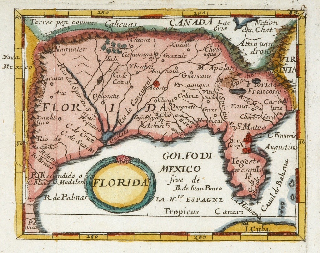 Florida In 2019 | A Selection Of Antique Print And Map Room's - Early Florida Maps