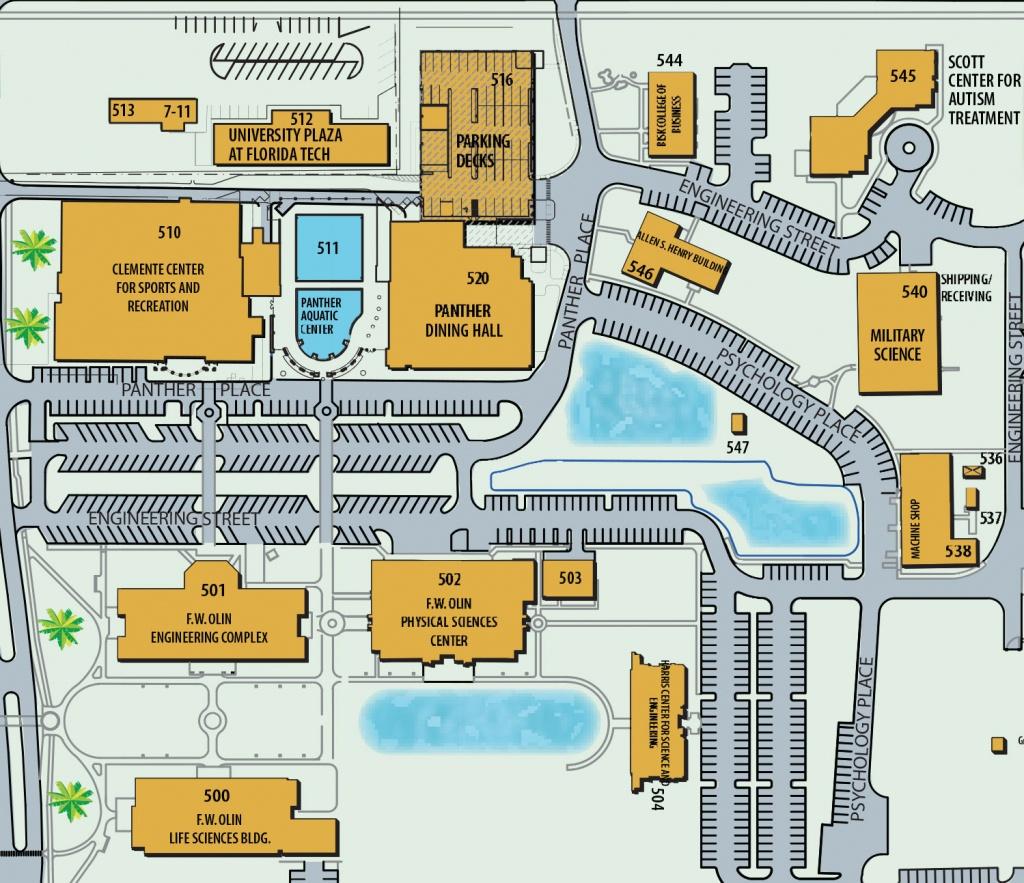 Florida Institute Of Technology - Florida Tech Map