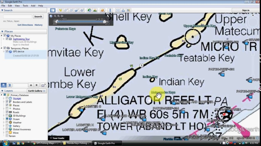 Florida Keys Fishing Map And Fishing Spots - Youtube - South Florida Fishing Maps