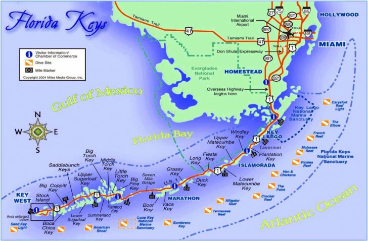 Map Of Florida Keys With Cities