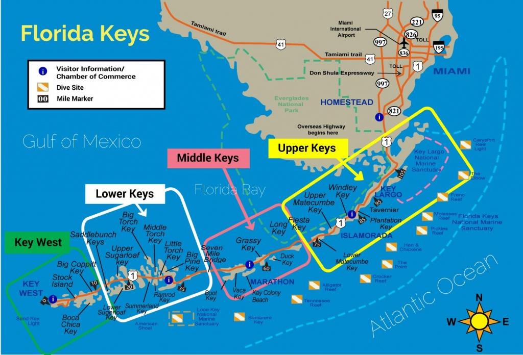 Florida Keys Map - Florida Keys Experience - Detailed Map Of Florida Keys