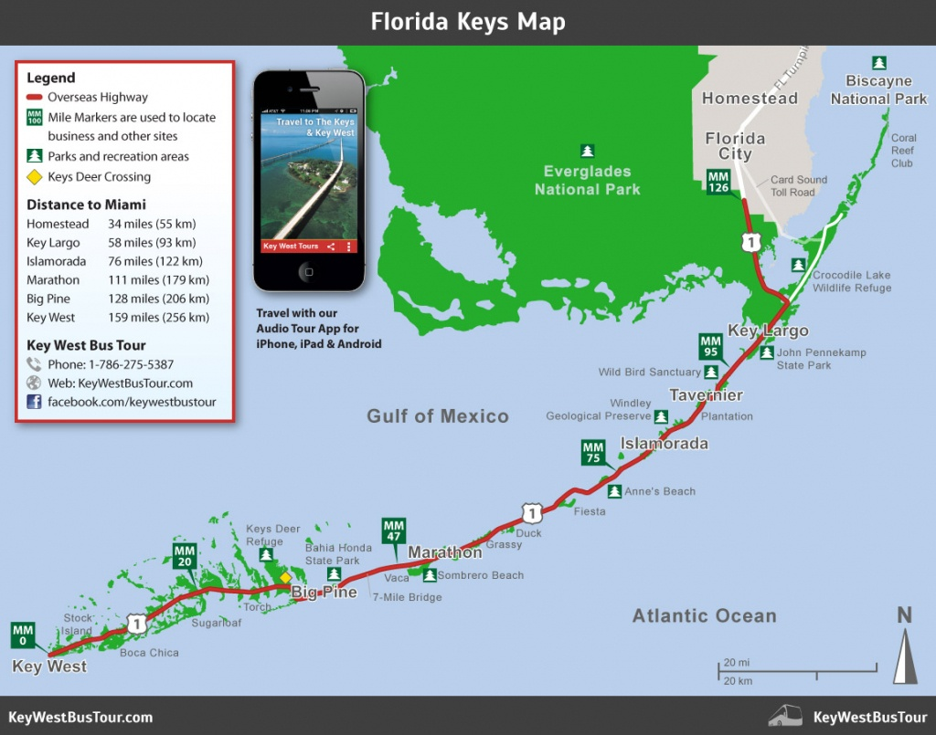 Florida Keys Map :: Key West Bus Tour - Cayo Marathon Florida Map