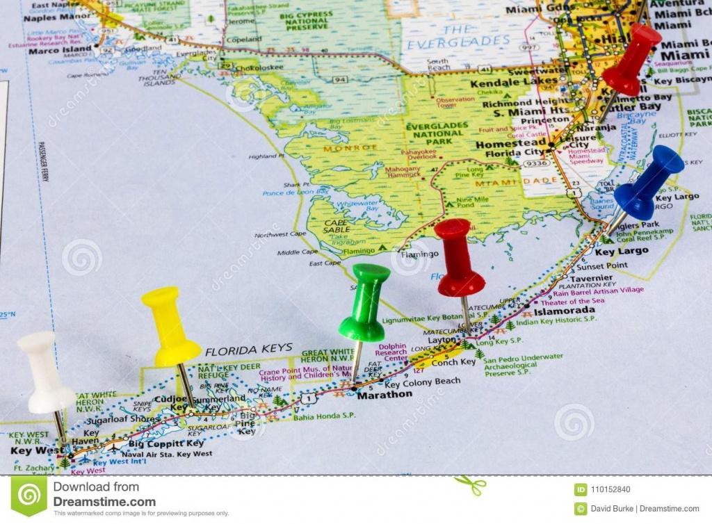 Florida Keys Miami Map Editorial Image. Image Of Miami - 110152840 - Map Of Florida Keys And Miami