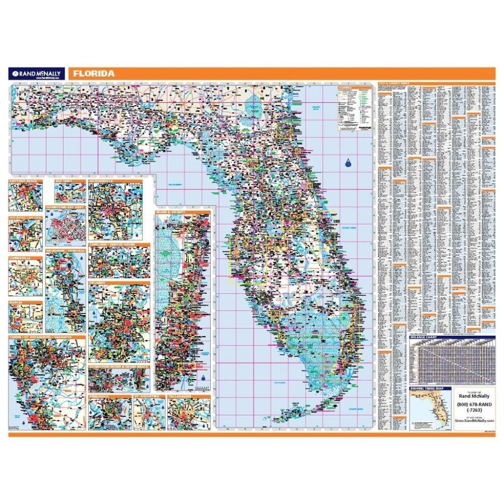 Florida Laminated State Wall Map - Laminated Florida Map