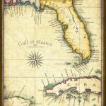 Florida Map Art 1820 11 X 14 Prints From Hand | Etsy   Florida Keys Map Art