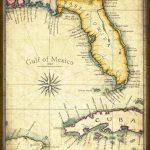 Florida Map Art 1820 11 X 14 Prints From Hand | Etsy   Florida Keys Map Art