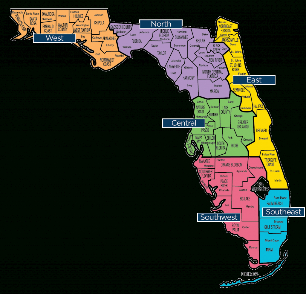 Florida Map - Florida Baptist Convention | Fbc - Big Map Of Florida