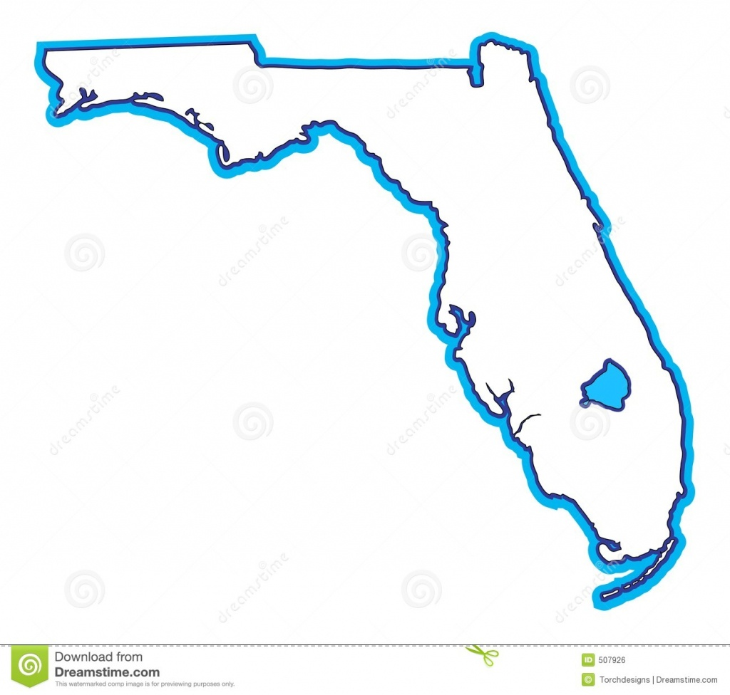 Florida Map Stock Illustration. Illustration Of Miami, South - 507926 - Free Florida Map