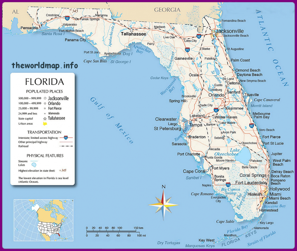 Florida Maps Of Us State And County – World Map – Map Of Usa - Us Map Of Alabama And Florida