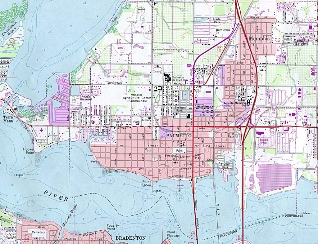 Florida Maps - Perry-Castañeda Map Collection - Ut Library Online - Palmetto Florida Map