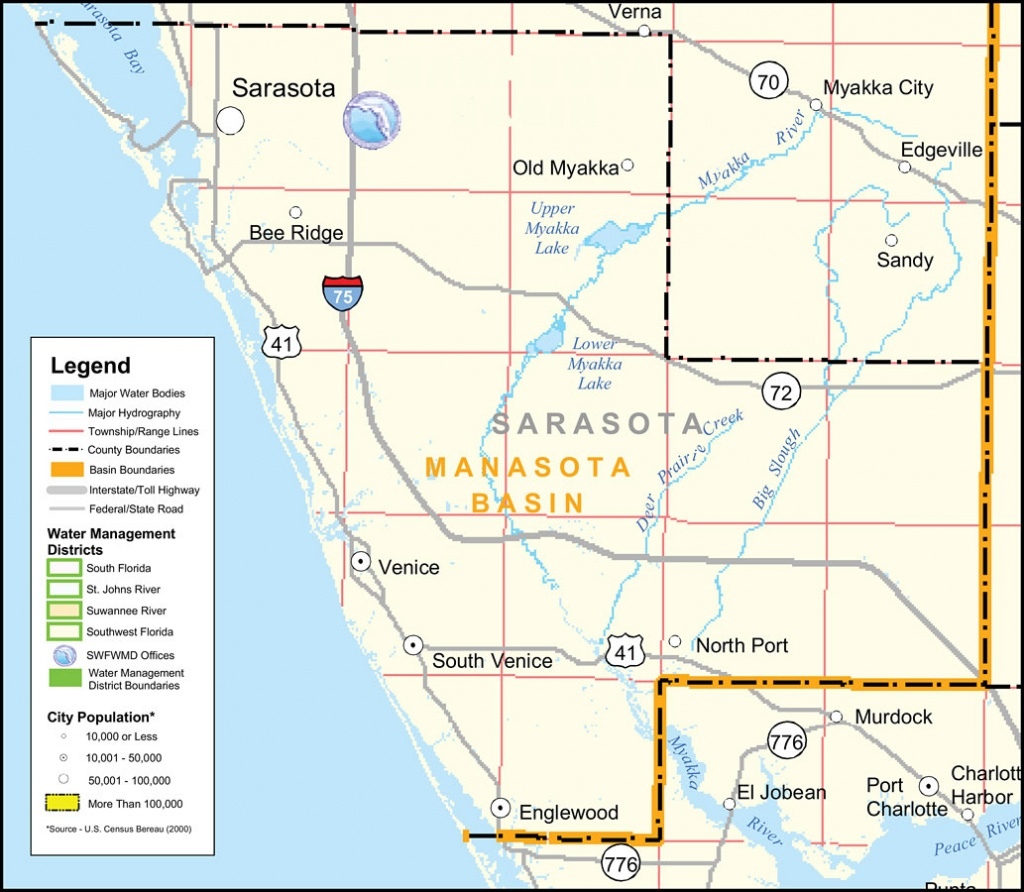 Florida Maps - Sarasota County - Sarasota County Florida Elevation Map