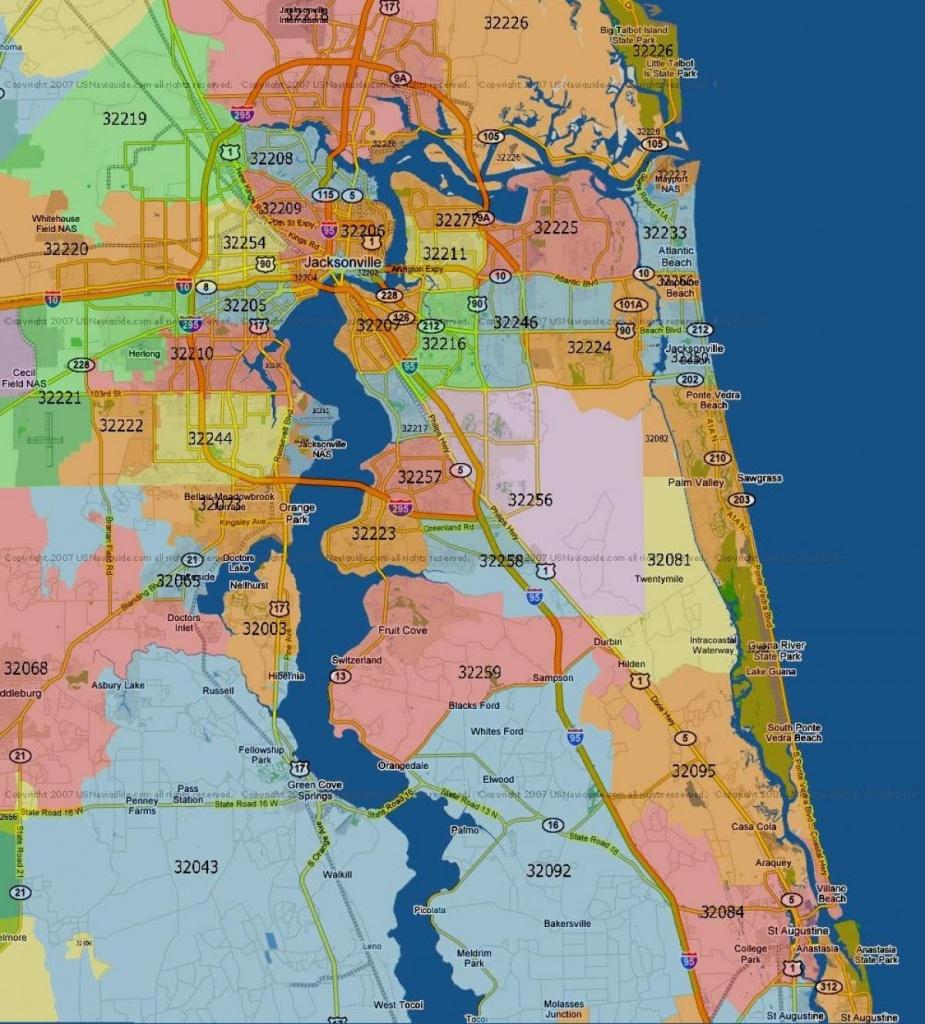 Florida Mapszip Code And Travel Information | Download Free - Florida Zip Code Map