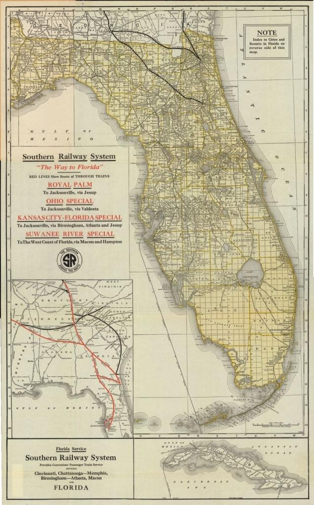 Florida Memory - Map Of Florida, Ca. 1922   History Of Plant City - Plant City Florida Map