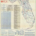 Florida Memory   Official Road Map Of Florida, 1946   Howey In The Hills Florida Map