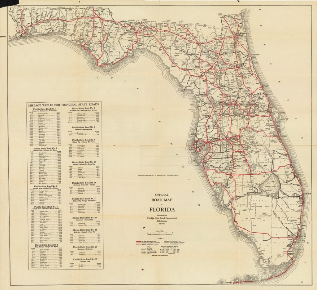 """Florida Memory On Twitter: """"it's Time To Start Planning Those Summer - State Of Florida Map Mileage"""
