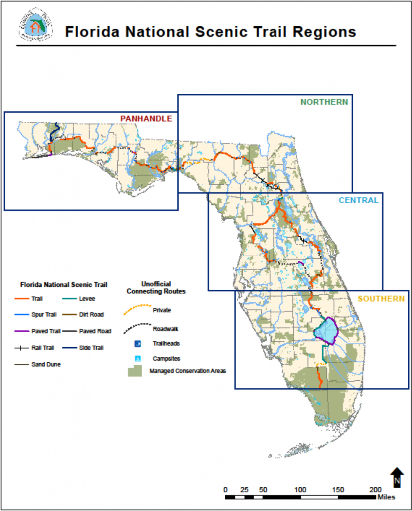 Florida National Scenic Trail - About The Trail - Florida Bike Trails Map
