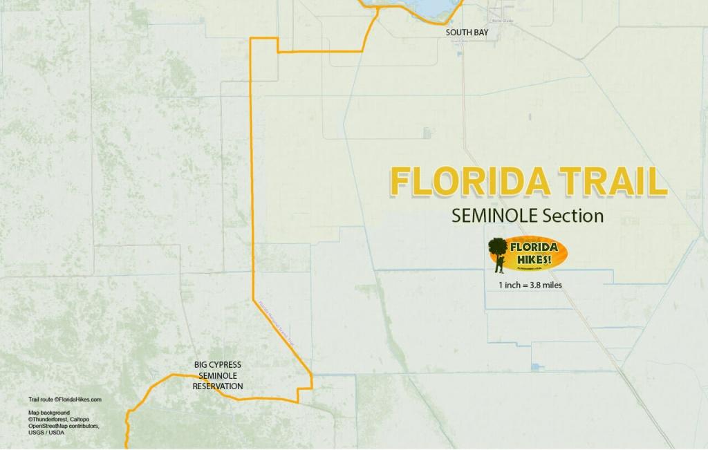 Florida Outdoor Recreation Maps | Florida Hikes! - Florida Section Map
