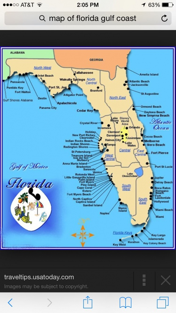 Florida   Places I Want To Visit   Map Of Florida Gulf, Map Of - Florida Gulf Coast Beaches Map
