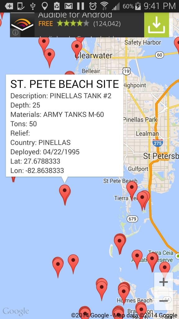 Florida Reef Fishing Scuba Map For Android - Apk Download - Florida Reef Maps App