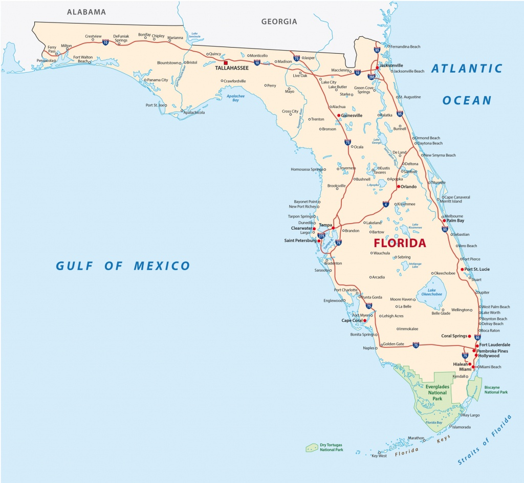 Florida Road Map With National Parks - R&r Lotion® - Florida Road Map 2018