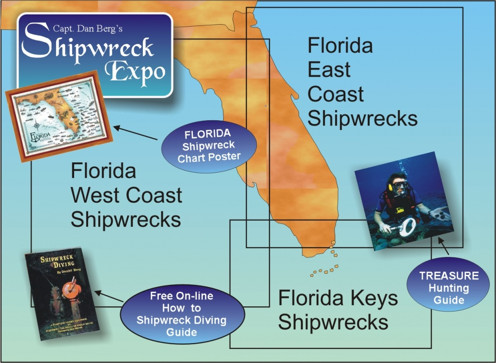 Florida Shipwrecks Wreck Directory - Florida Wreck Diving Map